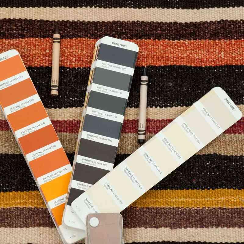"Multicolor New Handwoven Turkish Kilim Rug - 4' 1"" x 5' 11"" (49 in. x 71 in.) - K0036463"