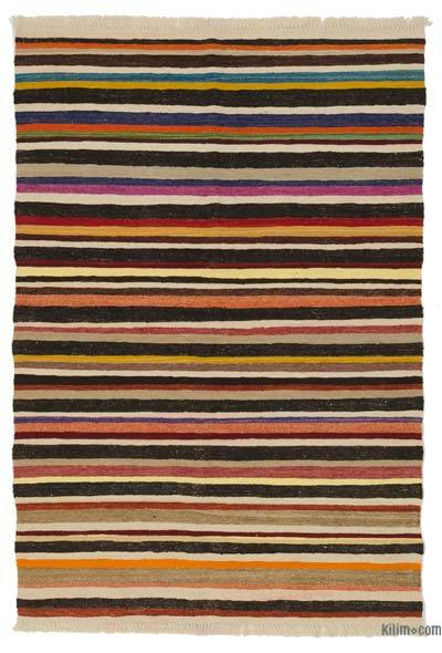 "New Handwoven Turkish Kilim Rug - 4' 1"" x 5' 11"" (49 in. x 71 in.)"