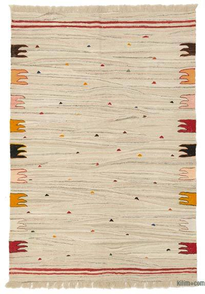 """New Handwoven Turkish Kilim Rug - 4' x 5'10"""" (48 in. x 70 in.)"""