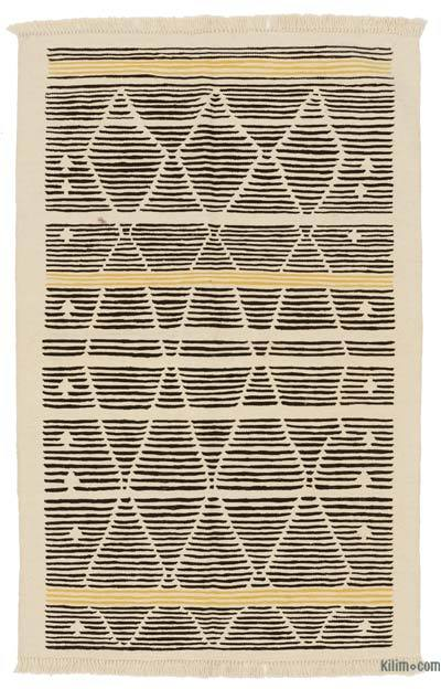 "New Handwoven Turkish Kilim Rug - 3' 10"" x 6' 1"" (46 in. x 73 in.)"
