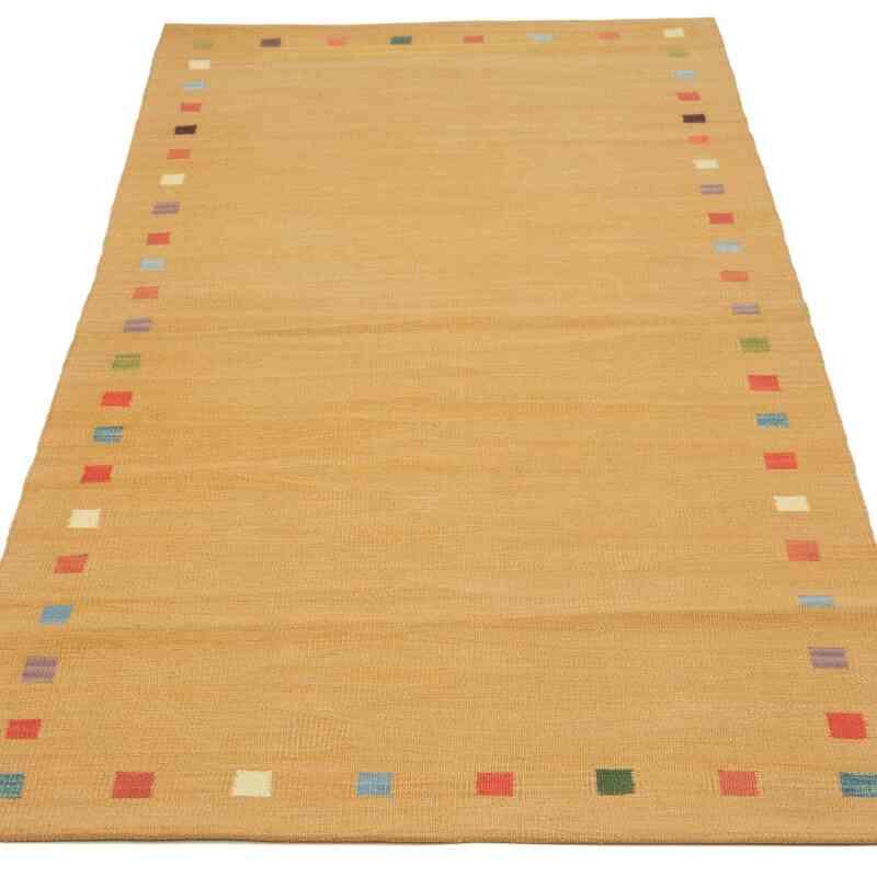 Sarı Yeni Kök Boya Yolluk Kilim - 102 cm x 224 cm - K0036472