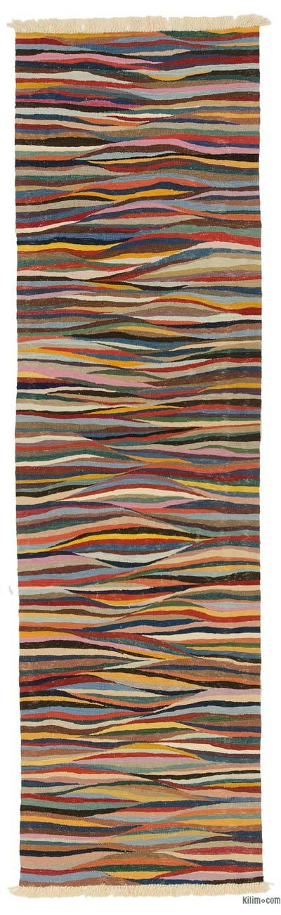 "New Turkish Kilim Runner - 2'9"" x 9'10"" (33 in. x 118 in.)"