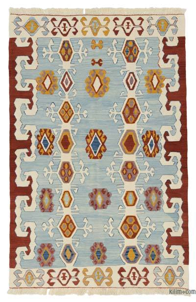 "New Handwoven Turkish Kilim Rug - 3'11"" x 5'11"" (47 in. x 71 in.)"
