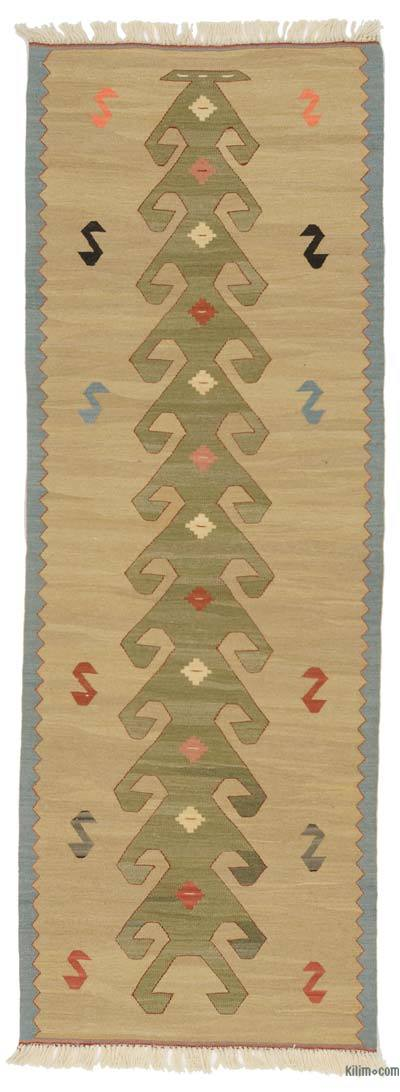 "New Turkish Kilim Runner - 2' 6"" x 6' 11"" (30 in. x 83 in.)"