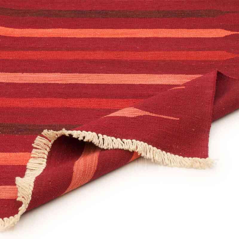Red New Handwoven Turkish Kilim Rug - K0036482