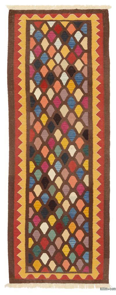 "New Turkish Kilim Runner - 3'  x 8' 1"" (36 in. x 97 in.)"