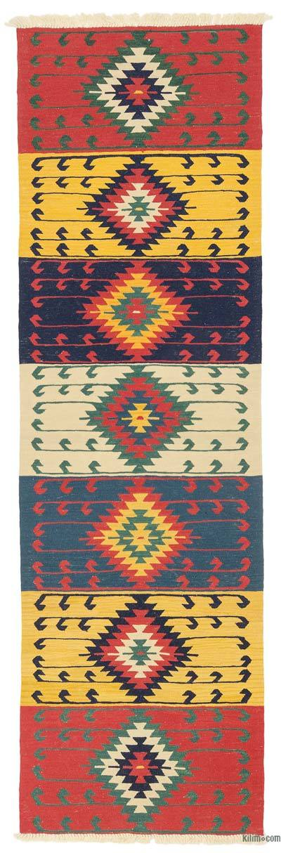 "New Turkish Kilim Runner - 2' 11"" x 9' 6"" (35 in. x 114 in.)"