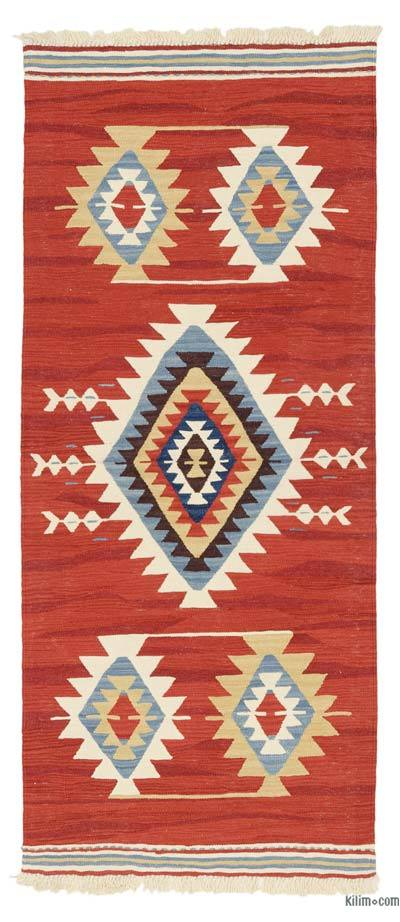 "New Turkish Kilim Runner - 3' 1"" x 7' 2"" (37 in. x 86 in.)"