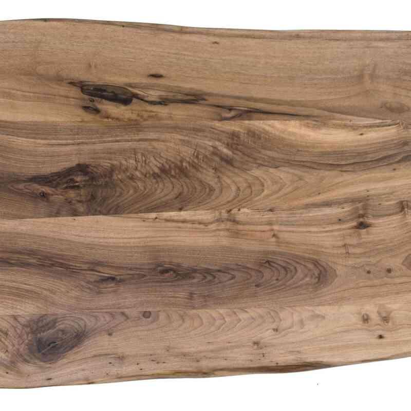 Walnut Slab Coffee Table with Cast Aluminium Legs - K0036506
