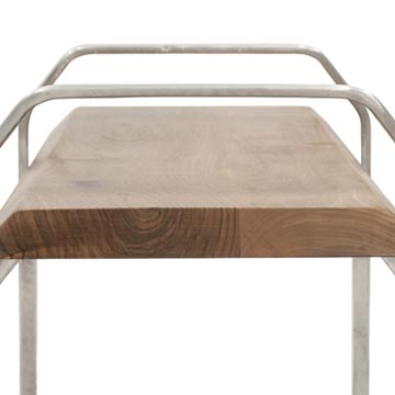 Walnut Coffee Table with Cast Aluminium Legs - K0036508