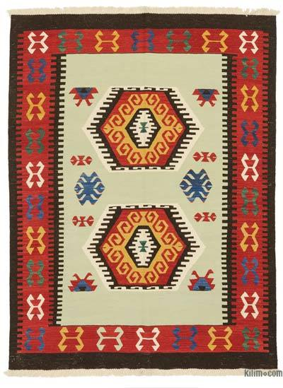 "New Handwoven Turkish Kilim Rug - 4'11"" x 6'8"" (59 in. x 80 in.)"