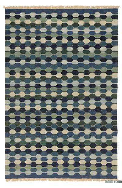 "New Handwoven Turkish Kilim Rug - 6'  x 8' 11"" (72 in. x 107 in.)"