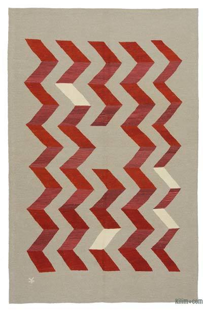 """New Handwoven Turkish Kilim Rug - 6'6"""" x 10' (78 in. x 120 in.)"""