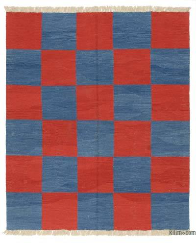 New Handwoven Turkish Kilim Rug - 5' x 6' (60 in. x 72 in.)