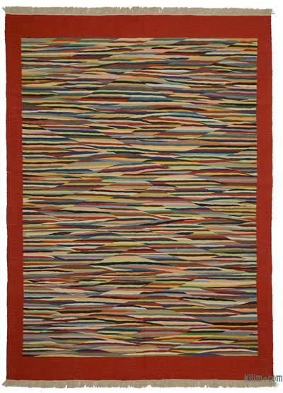 "New Handwoven Turkish Kilim Rug - 5' 8"" x 7' 11"" (68 in. x 95 in.)"