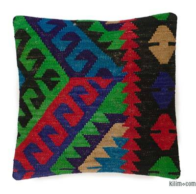 "Kilim Pillow Cover - 1' 4"" x 1' 4"" (16 in. x 16 in.)"