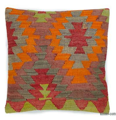 """Kilim Pillow Cover - 1' 4"""" x 1' 4"""" (16 in. x 16 in.)"""