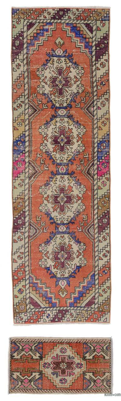 "Vintage Turkish Runner Rug - 2' 11"" x 9'  (35 in. x 108 in.)"