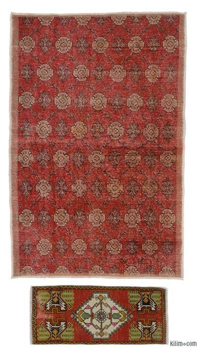 "Turkish Vintage Area Rug - 4'4"" x 6'7"" (52 in. x 79 in.)"