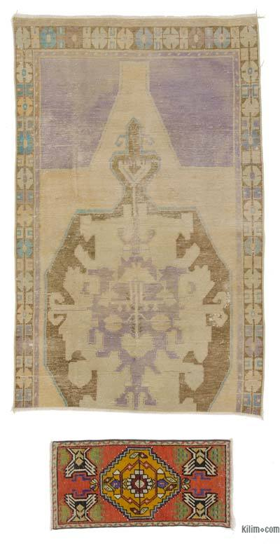 "Turkish Vintage Area Rug - 4' 4"" x 6' 10"" (52 in. x 82 in.)"