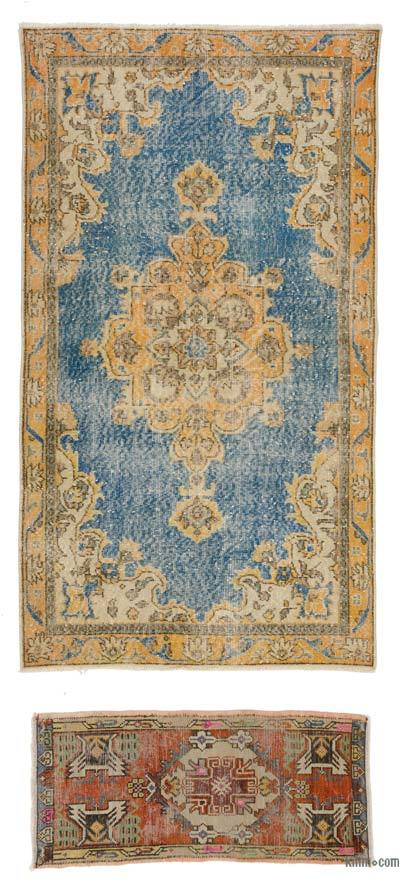 "Turkish Vintage Area Rug - 3'7"" x 6'4"" (43 in. x 76 in.)"