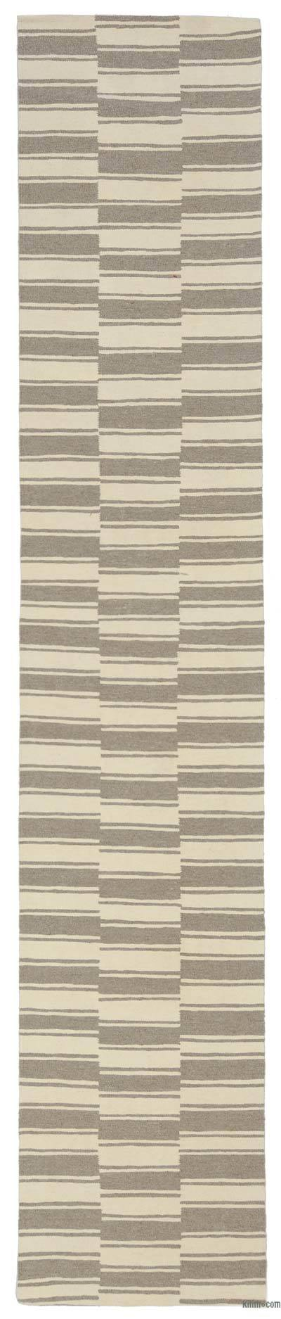 "New Turkish Kilim Runner - 2' 5"" x 12' 10"" (29 in. x 154 in.)"