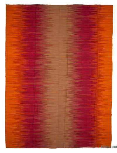 Turuncu, Kırmızı Yeni Anadolu Kilimi - 365 cm x 490 cm