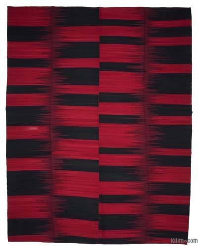 Kırmızı, Siyah Yeni Anadolu Kilimi - 365 cm x 472 cm