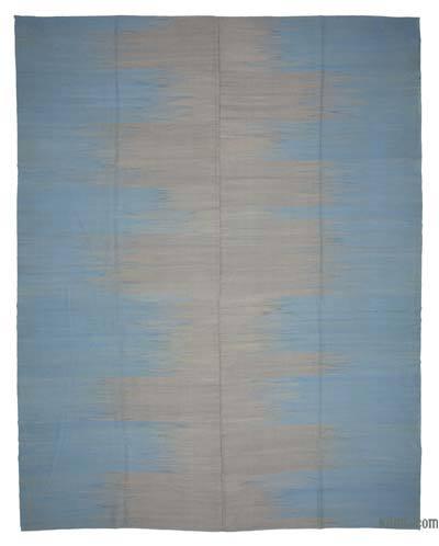 Lacivert, Gri Yeni Anadolu Kilimi - 362 cm x 466 cm