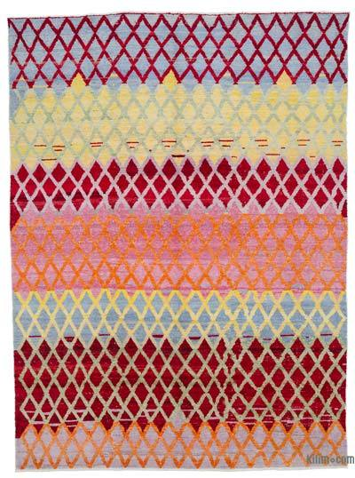 "New Contemporary Hand-Knotted Wool Rug - 8'8"" x 11'10"" (104 in. x 142 in.)"