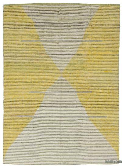 "New Contemporary Hand-Knotted Wool Rug - 8' 6"" x 12'  (102 in. x 144 in.)"