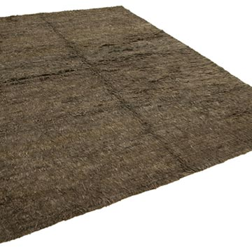 """Brown New Contemporary Hand-Knotted Wool Rug - 8' 4"""" x 10' 4"""" (100 in. x 124 in.) - K0037092"""
