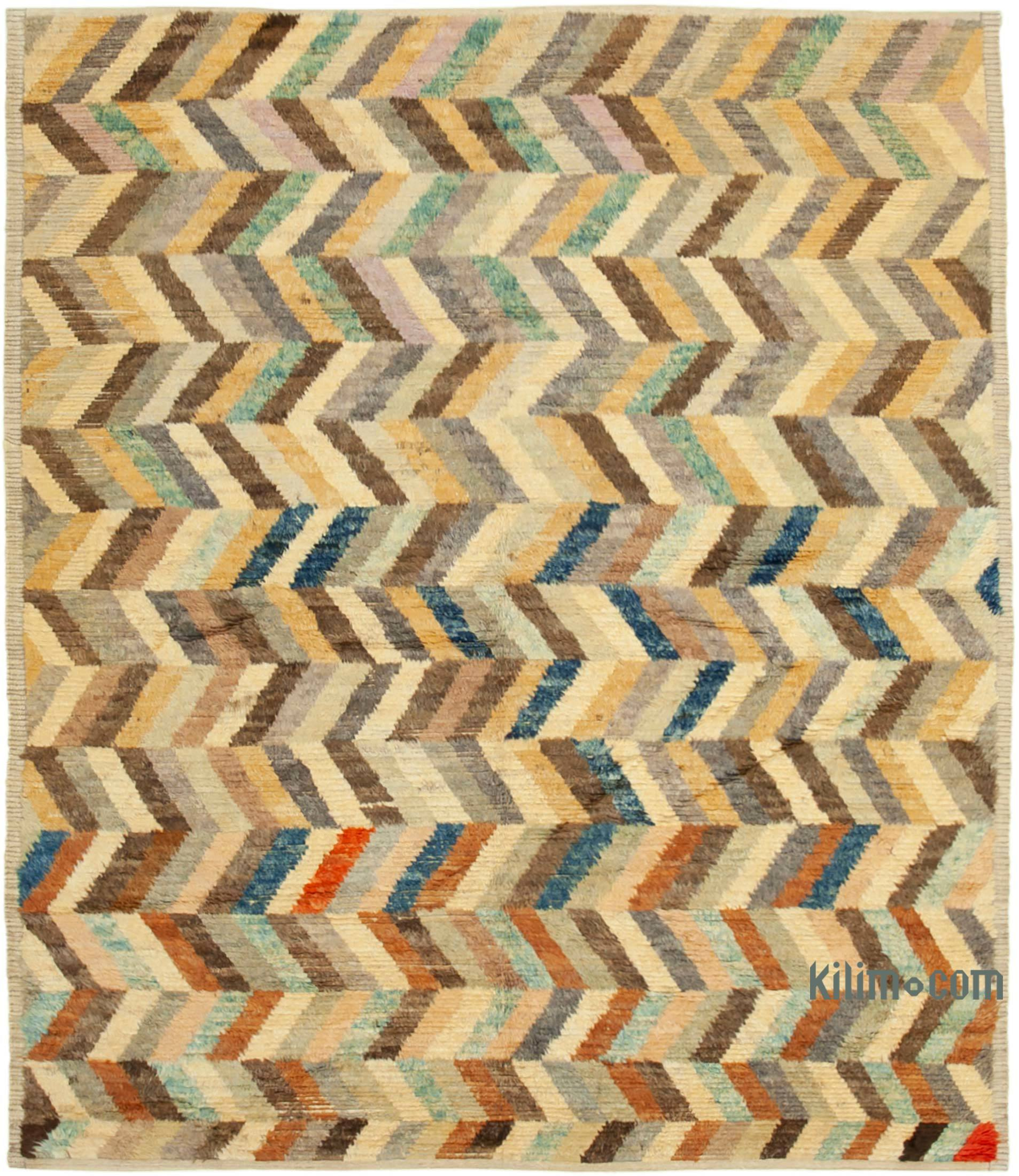 Contemporary Hand Knotted Wool Rug