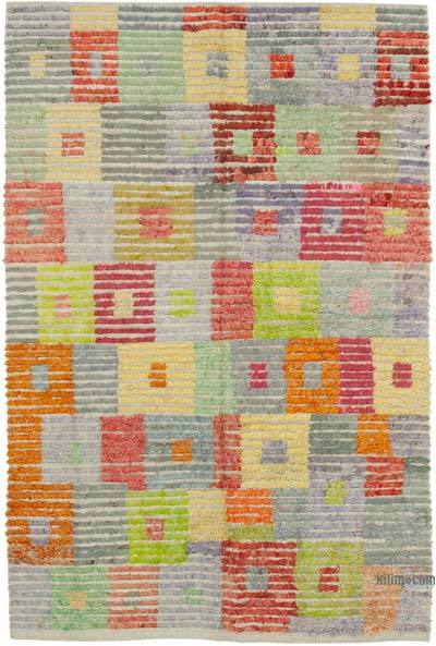 """New Contemporary Hand-Knotted Wool Rug - 6' 4"""" x 9' 11"""" (76 in. x 119 in.)"""