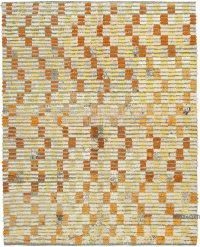"New Contemporary Hand-Knotted Wool Rug - 7' 4"" x 9' 5"" (88 in. x 113 in.)"