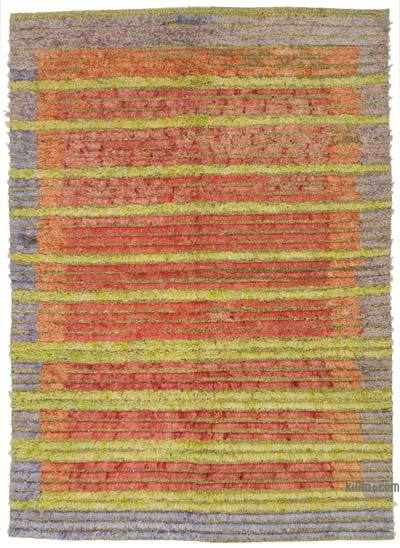 "New Contemporary Hand-Knotted Wool Rug - 4' 10"" x 6' 10"" (58 in. x 82 in.)"