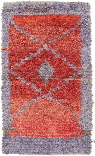 """New Contemporary Hand-Knotted Wool Rug - 3' 10"""" x 6' 10"""" (46 in. x 82 in.)"""