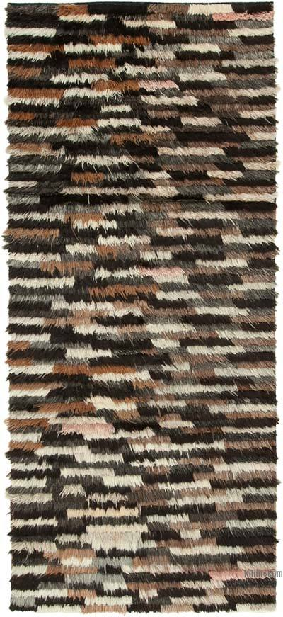 """New Contemporary Hand-Knotted Wool Rug - 4' 2"""" x 9' 9"""" (50 in. x 117 in.)"""