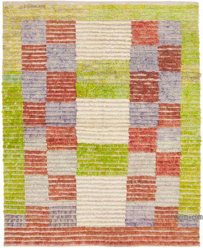 "New Contemporary Hand-Knotted Wool Rug - 5' 2"" x 6' 8"" (62 in. x 80 in.)"