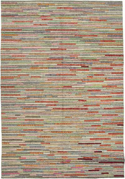 """New Contemporary Hand-Knotted Wool Rug - 8'4"""" x 12'6"""" (100 in. x 150 in.)"""