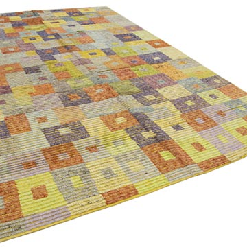 New Contemporary Hand-Knotted Wool Rug - 8' 4# x 13'  (100 in. x 156 in.) - K0037114