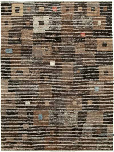 """New Contemporary Hand-Knotted Wool Rug - 8'10"""" x 12' (106 in. x 144 in.)"""