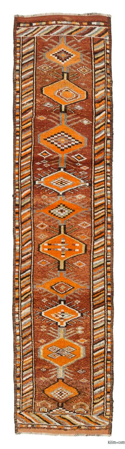 "Vintage Turkish Runner Rug - 2' 10"" x 11' 10"" (34 in. x 142 in.)"