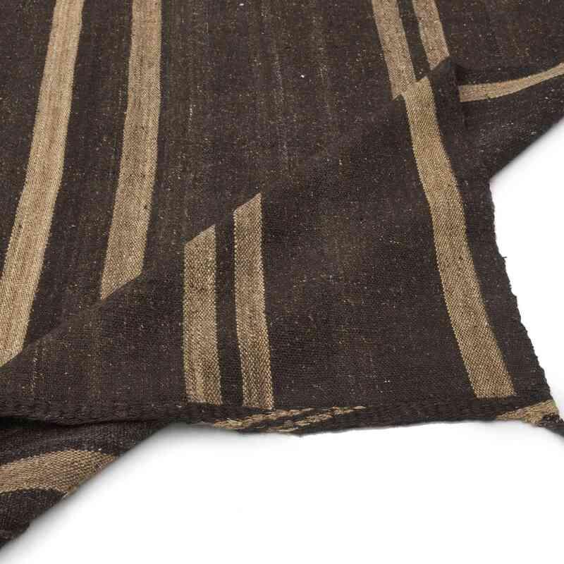 Kahverengi Vintage Anadolu 'Kıl' Kilim - 190 cm x 307 cm - K0037166