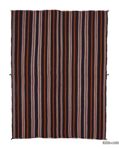 Kahverengi Vintage Anadolu 'Kıl' Kilim - 212 cm x 284 cm