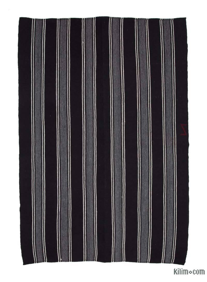 """Brown Vintage Anatolian Kilim Rug - 7' 4"""" x 10' 8"""" (88 in. x 128 in.) - K0037219"""