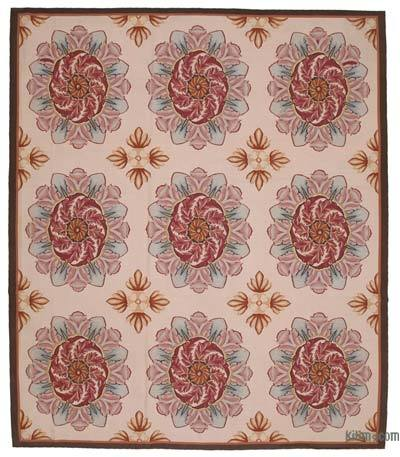 """Aubusson Rug - 10'1"""" x 11'8"""" (121 in. x 140 in.)"""