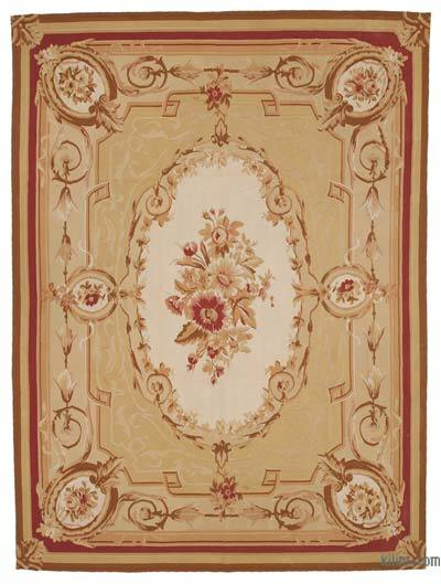 """Aubusson Rug - 8' 9"""" x 11' 9"""" (105 in. x 141 in.)"""
