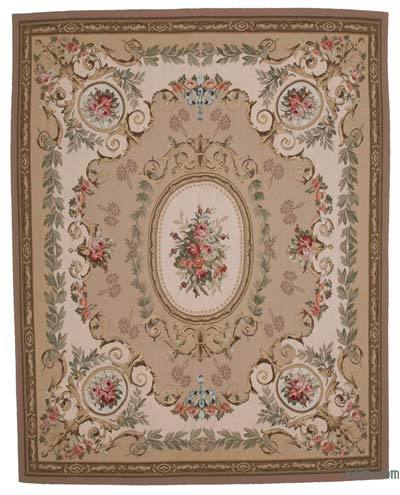 "Aubusson Rug - 8' 8"" x 11'  (104 in. x 132 in.)"
