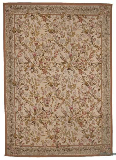 "Aubusson Rug - 10'  x 14' 1"" (120 in. x 169 in.)"